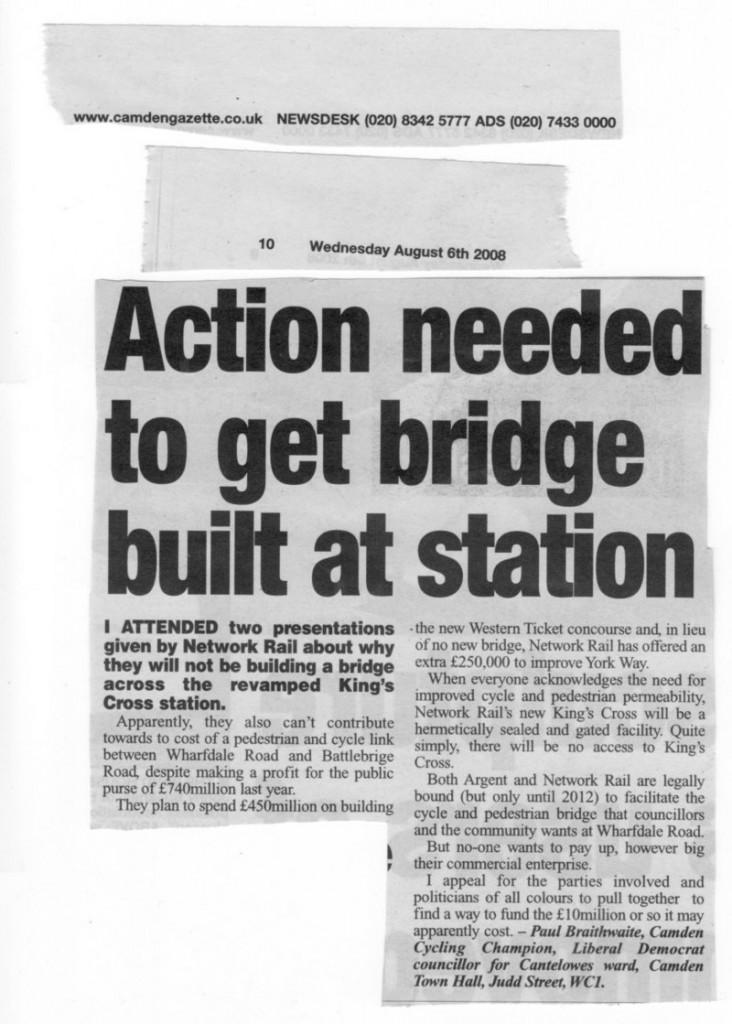 Camden Gazette 6 August 2008