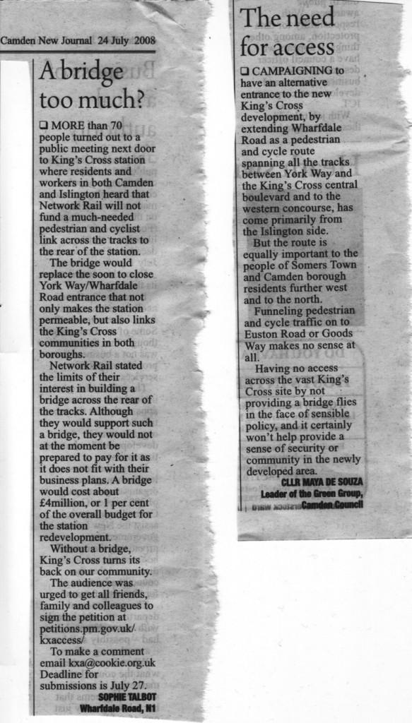 Camden New Journal 24 July 2008