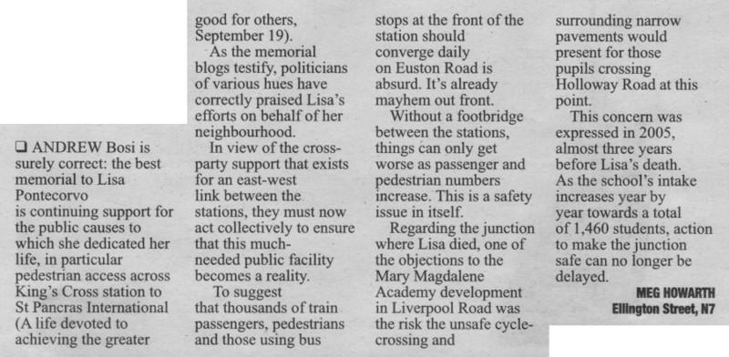 Islington Tribune 26 Sept 2008