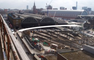 King's Cross Station & our bridge